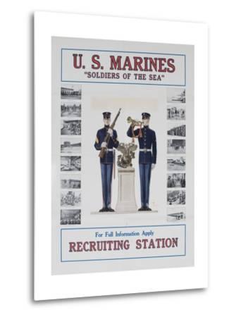 U.S. Marines Recruiting Poster--Metal Print