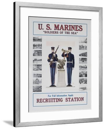 U.S. Marines Recruiting Poster--Framed Giclee Print