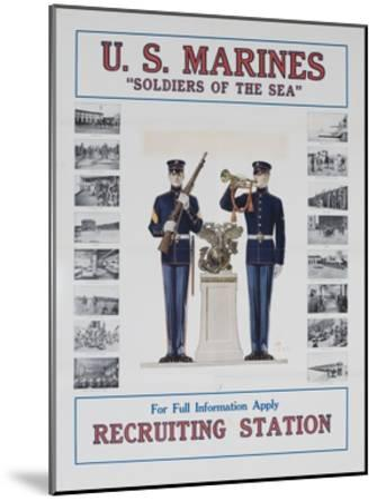 U.S. Marines Recruiting Poster--Mounted Giclee Print