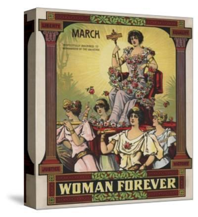 Woman Forever Sheet Music Cover--Stretched Canvas Print
