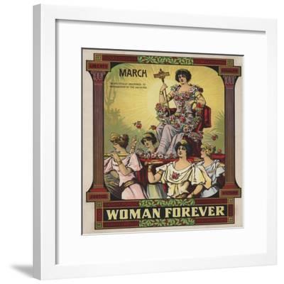 Woman Forever Sheet Music Cover--Framed Giclee Print