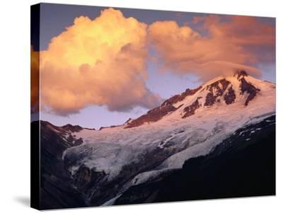 Coleman Glacier and Mount Baker-Paul Souders-Stretched Canvas Print