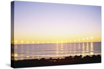 Midnight Sun over Sigurdarstadavik Bay-Paul Souders-Stretched Canvas Print