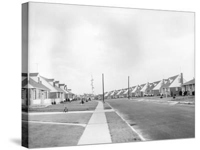 Houses in Levittown, Long Island--Stretched Canvas Print