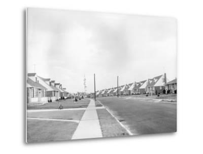 Houses in Levittown, Long Island--Metal Print