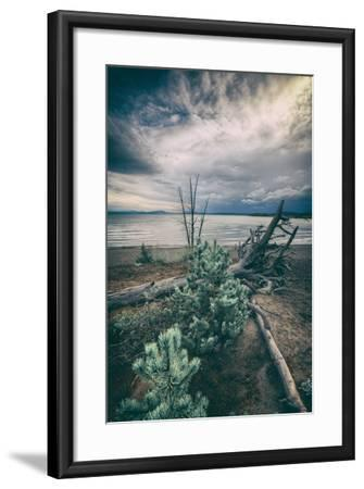 Moody Lakeside Storm, Yellowstone-Vincent James-Framed Photographic Print