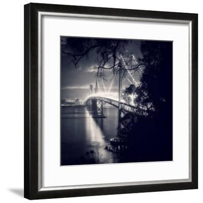 Bay Bridge, All Dressed Up, San Francisco-Vincent James-Framed Photographic Print