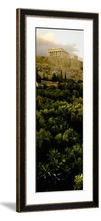 Acropolis of Athens at Dusk, Athens, Greece--Framed Photographic Print