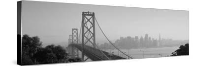 Bay Bridge, Skyline, City, San Francisco, California, USA--Stretched Canvas Print