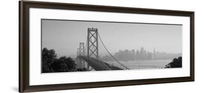 Bay Bridge, Skyline, City, San Francisco, California, USA--Framed Photographic Print