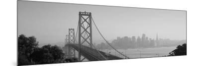 Bay Bridge, Skyline, City, San Francisco, California, USA--Mounted Photographic Print