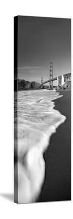 Suspension Bridge across a Bay, Golden Gate Bridge, San Francisco Bay, San Francisco--Stretched Canvas Print