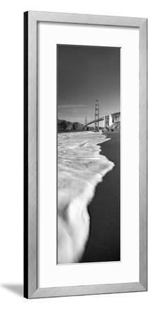 Suspension Bridge across a Bay, Golden Gate Bridge, San Francisco Bay, San Francisco--Framed Premium Photographic Print