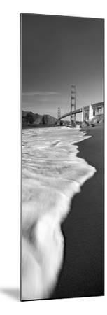 Suspension Bridge across a Bay, Golden Gate Bridge, San Francisco Bay, San Francisco--Mounted Premium Photographic Print