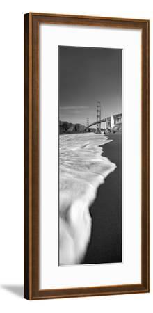 Suspension Bridge across a Bay, Golden Gate Bridge, San Francisco Bay, San Francisco--Framed Photographic Print