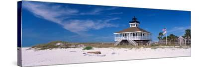 Lighthouse on the Beach, Port Boca Grande Lighthouse, Gasparilla Island State Park--Stretched Canvas Print