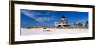 Lighthouse on the Beach, Port Boca Grande Lighthouse, Gasparilla Island State Park--Framed Photographic Print
