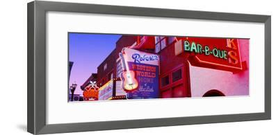 Neon Signs on Building, Nashville, Tennessee, USA--Framed Photographic Print