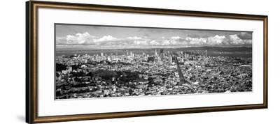 Cityscape Viewed from the Twin Peaks, San Francisco, California, USA--Framed Photographic Print
