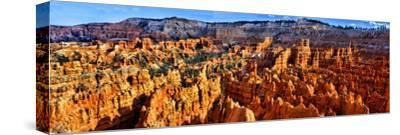 Hoodoo Rock Formations in Bryce Canyon National Park, Utah, USA--Stretched Canvas Print