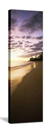 Beach at Sunset, Lanikai Beach, Oahu, Hawaii, USA--Stretched Canvas Print