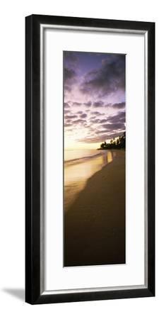 Beach at Sunset, Lanikai Beach, Oahu, Hawaii, USA--Framed Photographic Print
