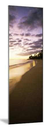Beach at Sunset, Lanikai Beach, Oahu, Hawaii, USA--Mounted Photographic Print