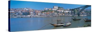 Ponte De Dom Luis I and Douro River Porto Portugal--Stretched Canvas Print
