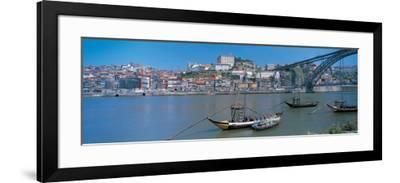 Ponte De Dom Luis I and Douro River Porto Portugal--Framed Photographic Print