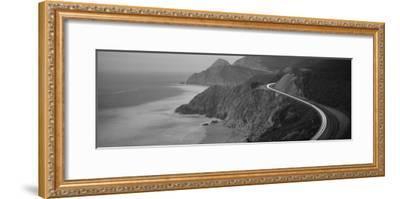 Dusk Highway 1 Pacific Coast Ca USA--Framed Photographic Print