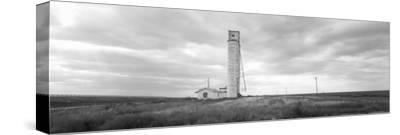 Barn Near a Silo in a Field, Texas Panhandle, Texas, USA--Stretched Canvas Print