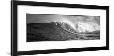 Surfer in the Sea, Maui, Hawaii, USA--Framed Photographic Print
