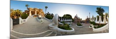 Park Guell, Barcelona, Catalonia, Spain--Mounted Photographic Print