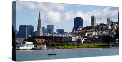 Buildings at the Waterfront, Transamerica Pyramid, Pacific Heights, San Francisco, California--Stretched Canvas Print