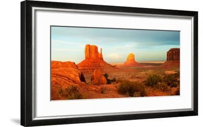 Buttes Rock Formations at Monument Valley, Utah-Arizona Border, USA--Framed Photographic Print