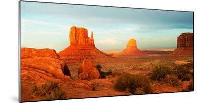 Buttes Rock Formations at Monument Valley, Utah-Arizona Border, USA--Mounted Photographic Print