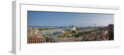 High Angle View of a Harbor, Port Vell, Barcelona, Catalonia, Spain--Framed Photographic Print