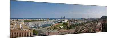High Angle View of a Harbor, Port Vell, Barcelona, Catalonia, Spain--Mounted Photographic Print