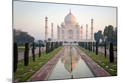 Reflection of a Mausoleum in Water, Taj Mahal, Agra, Uttar Pradesh, India--Mounted Photographic Print