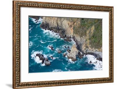 Aerial View of a Coast, Big Sur, Monterey County, California, USA--Framed Photographic Print