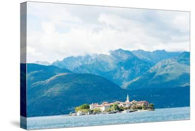 Town on an Island, Isola Dei Pescatori, Stresa, Lake Maggiore, Piedmont, Italy--Stretched Canvas Print