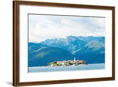Town on an Island, Isola Dei Pescatori, Stresa, Lake Maggiore, Piedmont, Italy--Framed Photographic Print