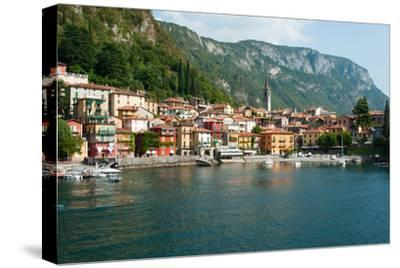 Buildings in a Town at the Waterfront, Varenna, Lake Como, Lombardy, Italy--Stretched Canvas Print
