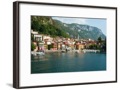Buildings in a Town at the Waterfront, Varenna, Lake Como, Lombardy, Italy--Framed Photographic Print