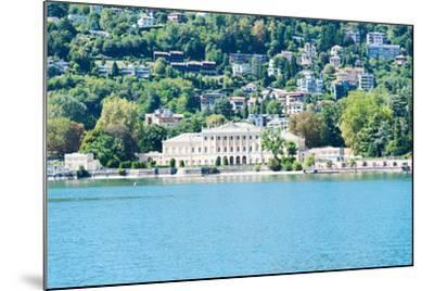 Buildings on a Hill, Villa Olmo, Lake Como, Lombardy, Italy--Mounted Photographic Print