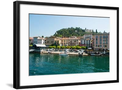 Buildings in a Town at the Waterfront, Bellagio, Lake Como, Lombardy, Italy--Framed Photographic Print