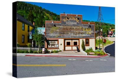 Facade of the High West Distillery Building, Park City, Utah, USA--Stretched Canvas Print