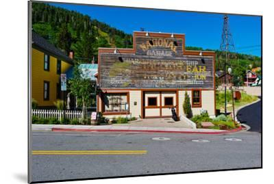 Facade of the High West Distillery Building, Park City, Utah, USA--Mounted Photographic Print