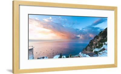 Buildings at the Waterfront, Positano, Amalfi Coast, Province of Salerno, Campania, Italy--Framed Photographic Print