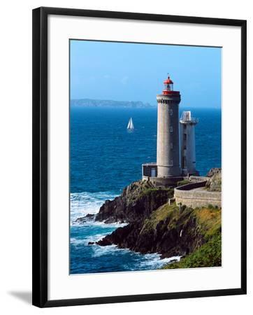 Lighthouse at the Coast, Phare Du Petit Minou, Goulet De Brest, Finistere, Brittany, France--Framed Photographic Print